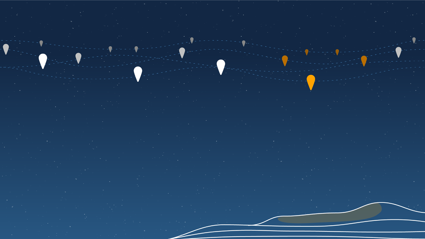 Project Loon S Internet Balloons Form Stratospheric Clusters For Targeted Delivery