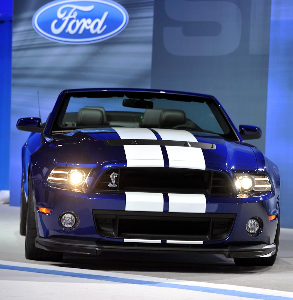 The 2013 Shelby GT500 convertible making its debut in Chicago