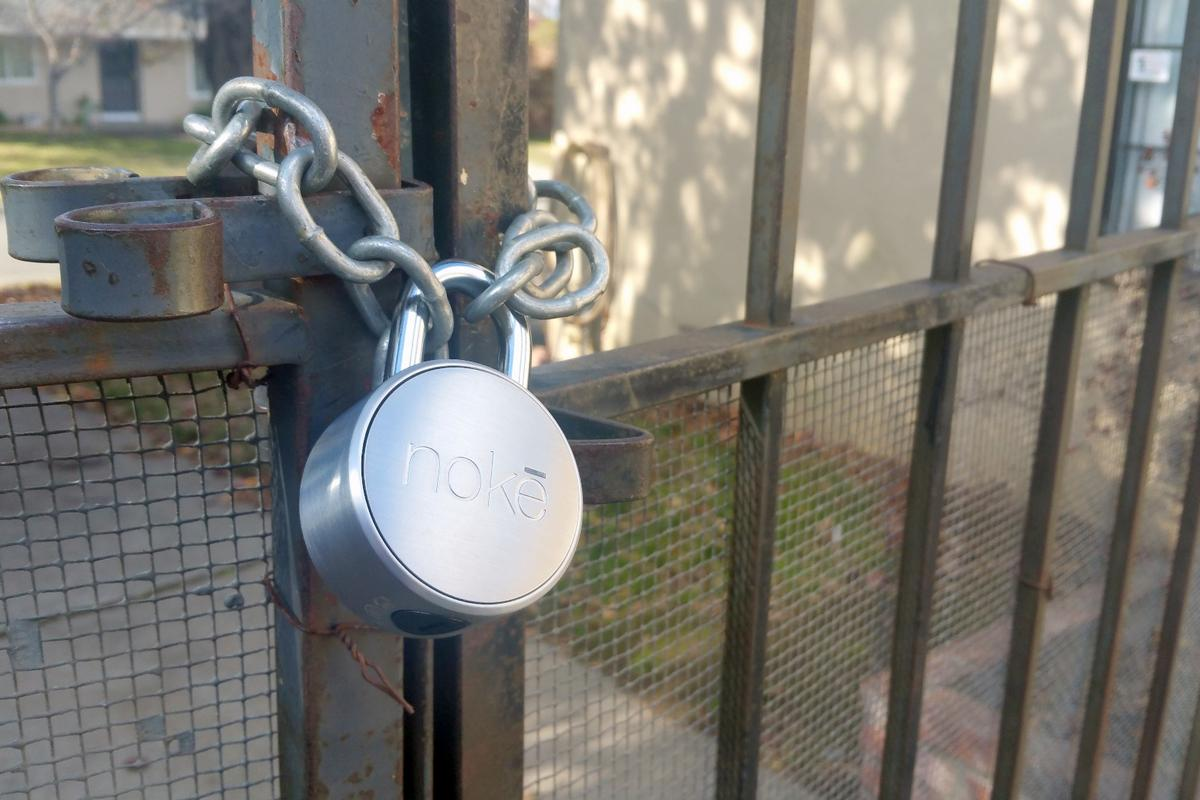 The Noke padlock is designed secure, weatherproof, and easy to use with Bluetooth 4.0 connectivity