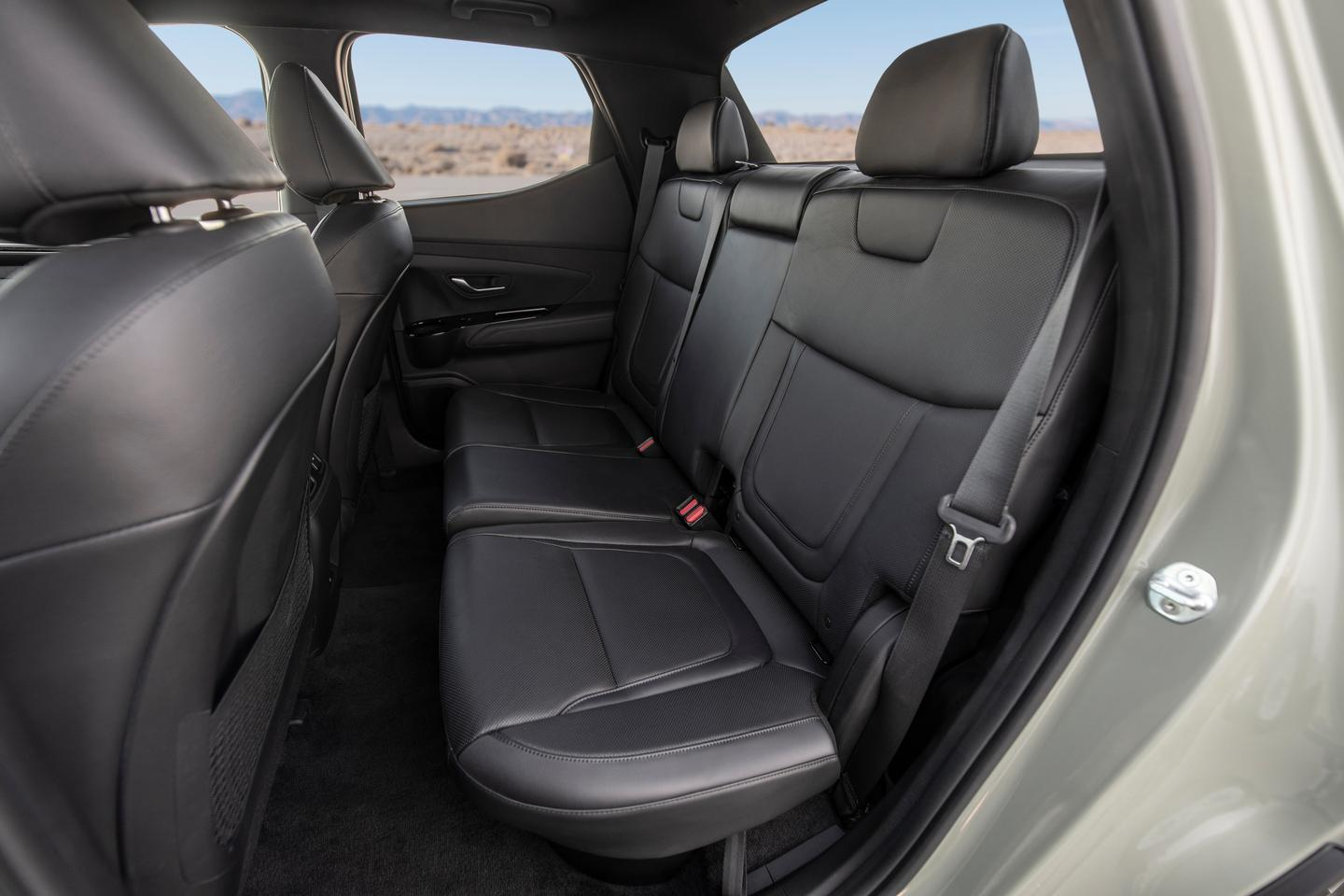 The seating in the back of the Santa Cruz appears small, akin to a compact vehicle