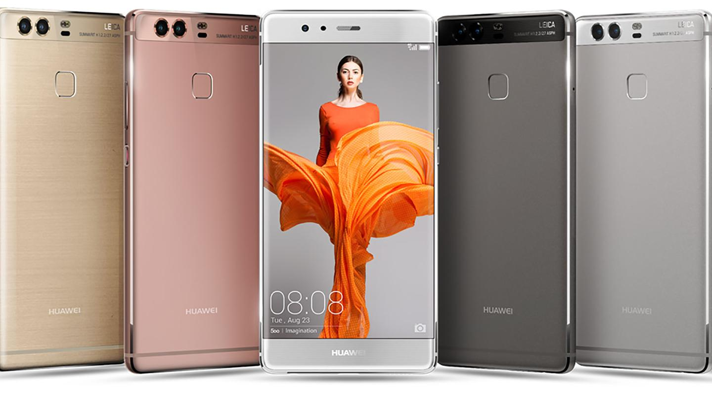 There's a choice of six colors for the P9 and four for the P9 Plus
