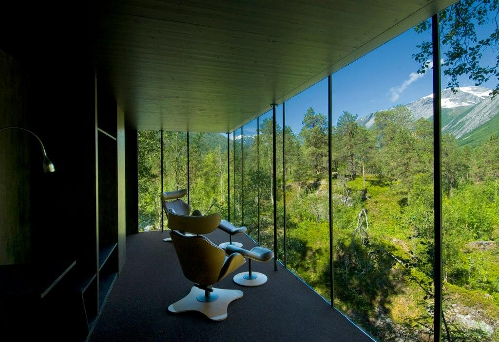 Designed by Norwegian architects Jensen & Skodvin, Juvet is a nature retreat that blends seamlessly with its wild environment
