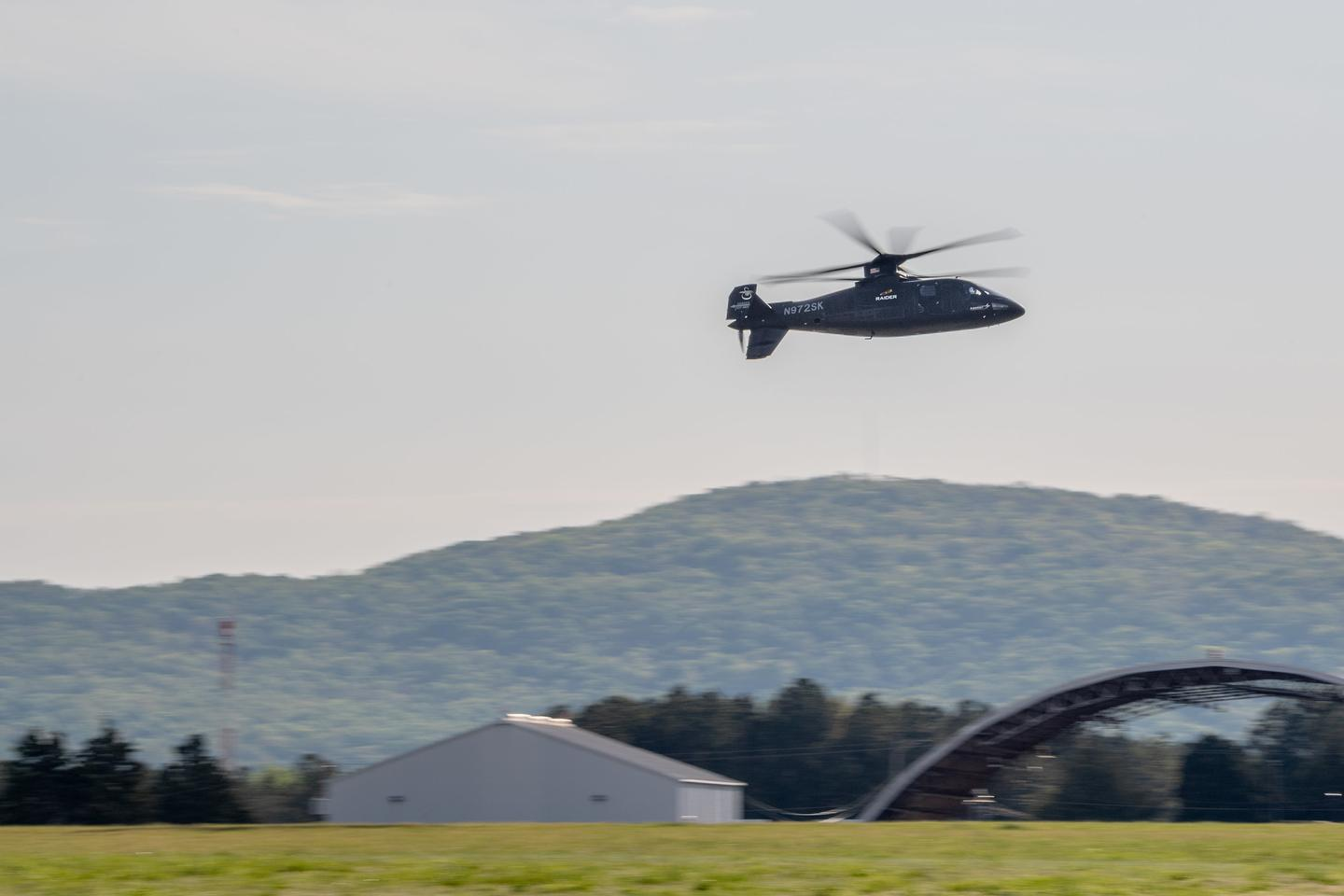 The Sikorsky S-97 RAIDER helicopter flew two flight demonstrations