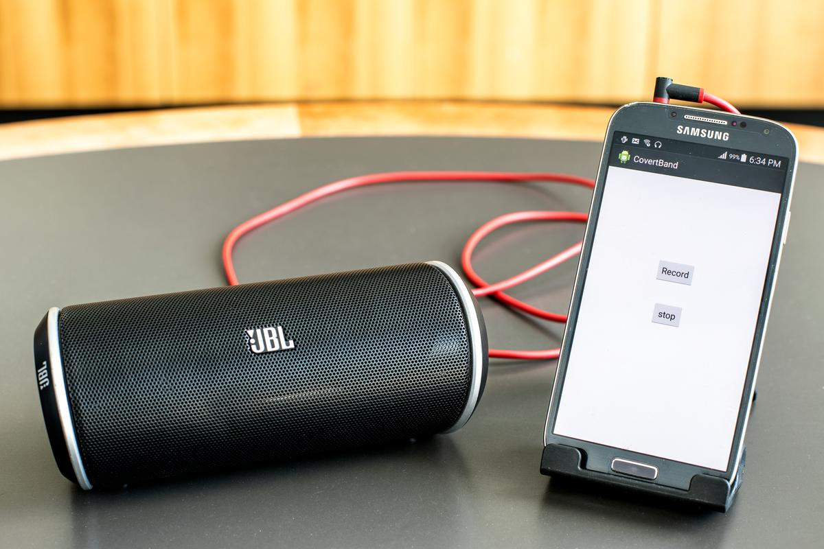 The researchers tested CovertBand using a Samsung Galaxy S4 smartphone hooked up to a portable speaker