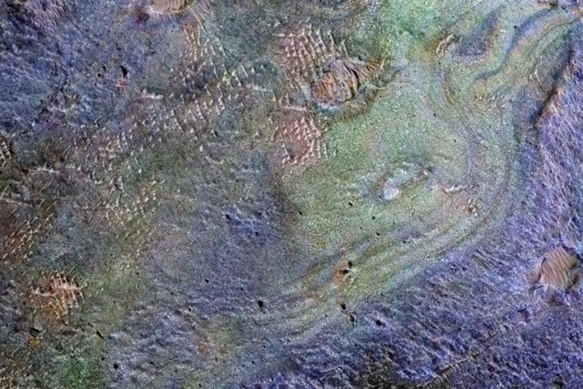 The Nili Fossae plains region on Mars, captured by the Mars Reconnaissance Orbiter