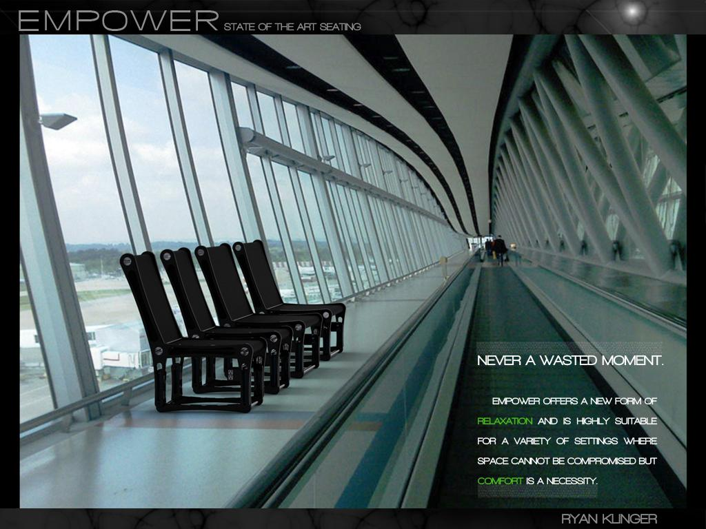 "The Empower chair is ""suitable for a variety of settings where space cannot be compromised but comfort is a necessity"""
