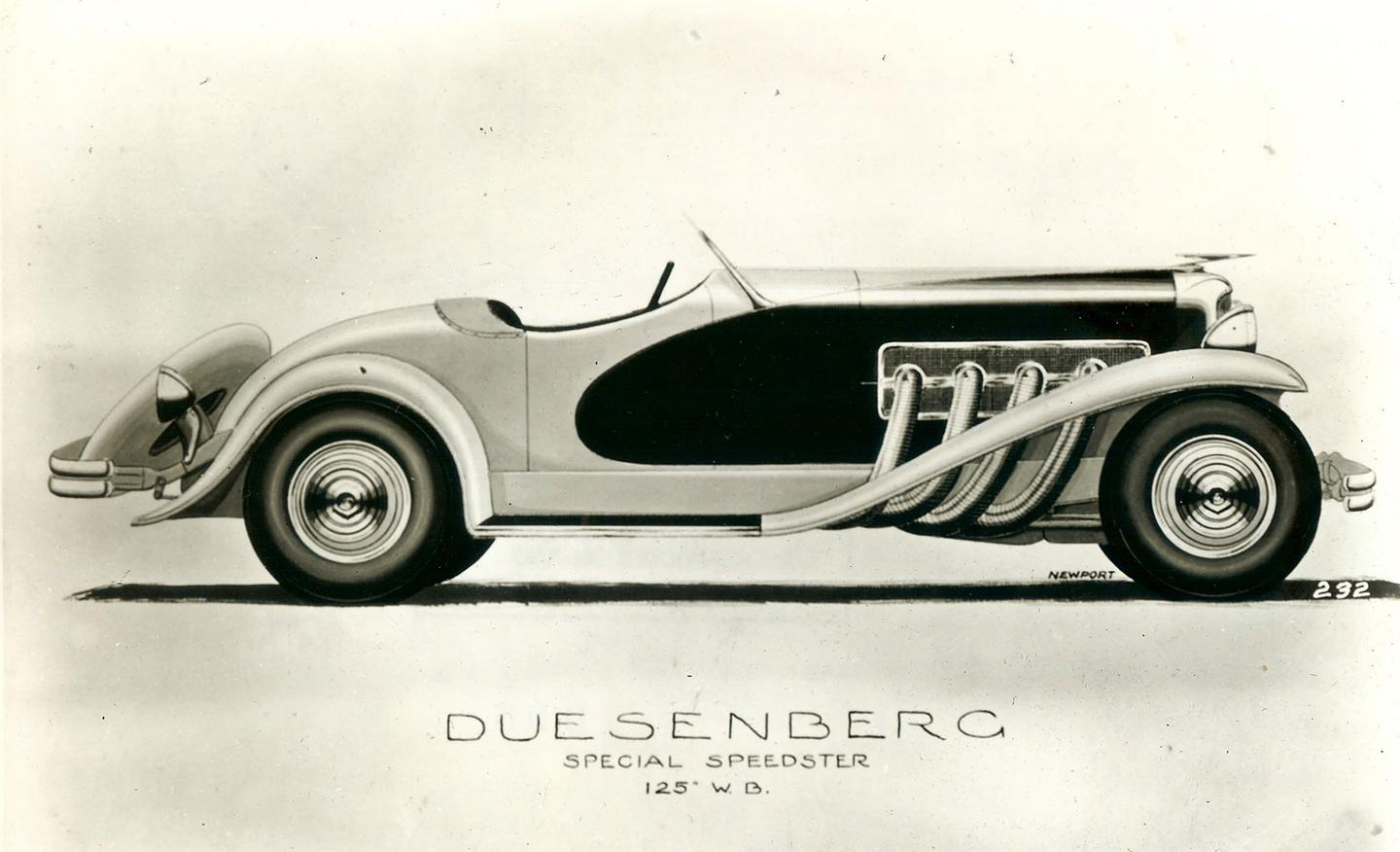 "1935 Original Duesenberg Ad /""He Drives a Duesenberg./""  Extremely rare."