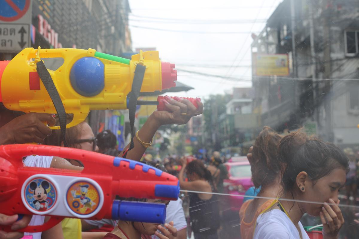 The world's biggest water fight - the Songkran Festival Thailand.