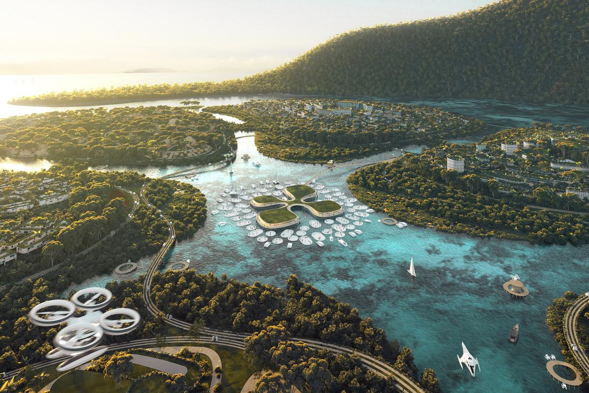 Assuming the project goes ahead, BiodiverCity would get its power from solar panels and wind turbines