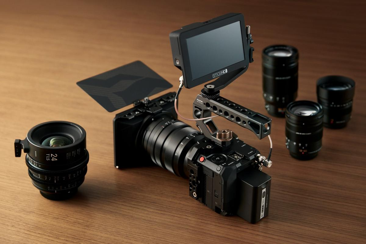 The Lumix DC-BGH1 live event streamer offers support for anamorphic lenses