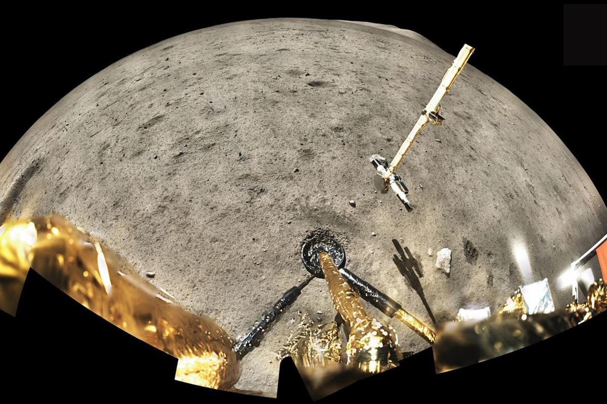 China's Chang'e-5 lander gets busy on the lunar surface in December 2020
