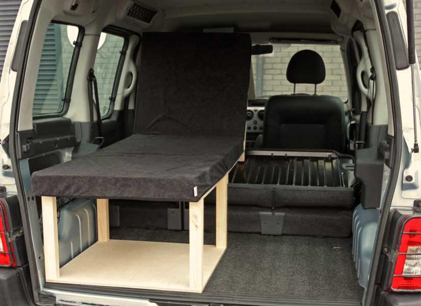 Simple kit turns small vans or crossovers into cozy micro