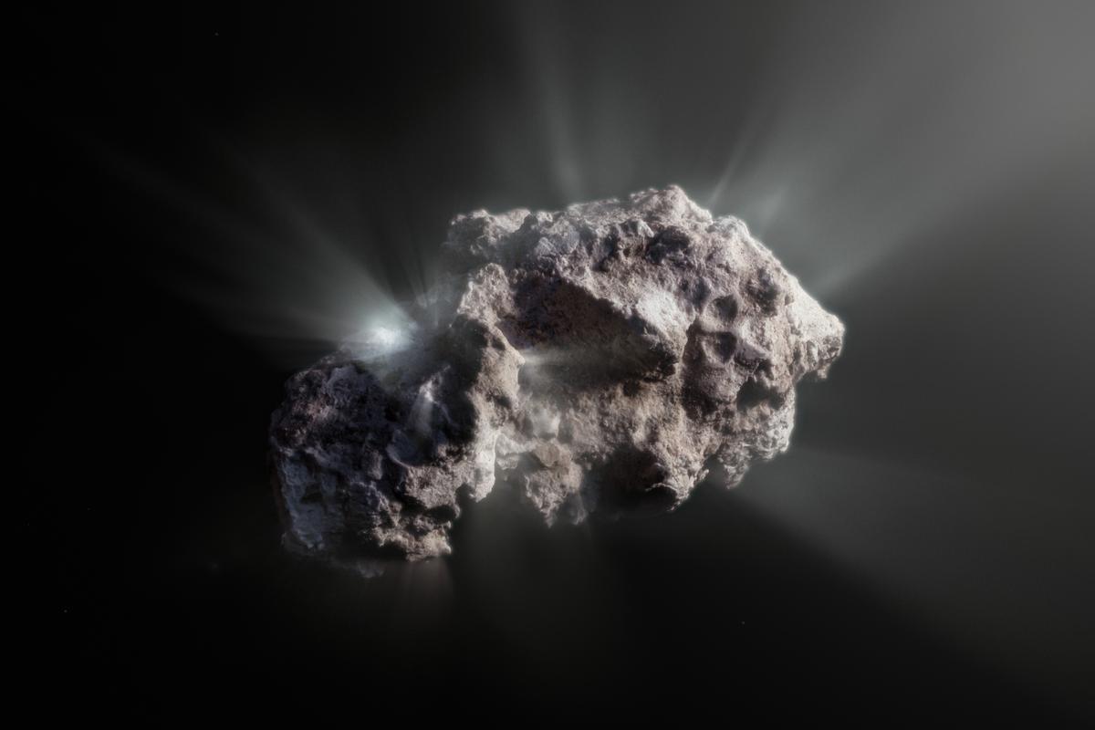 Artist's impression of the pristine alien comet 2I/Borisov