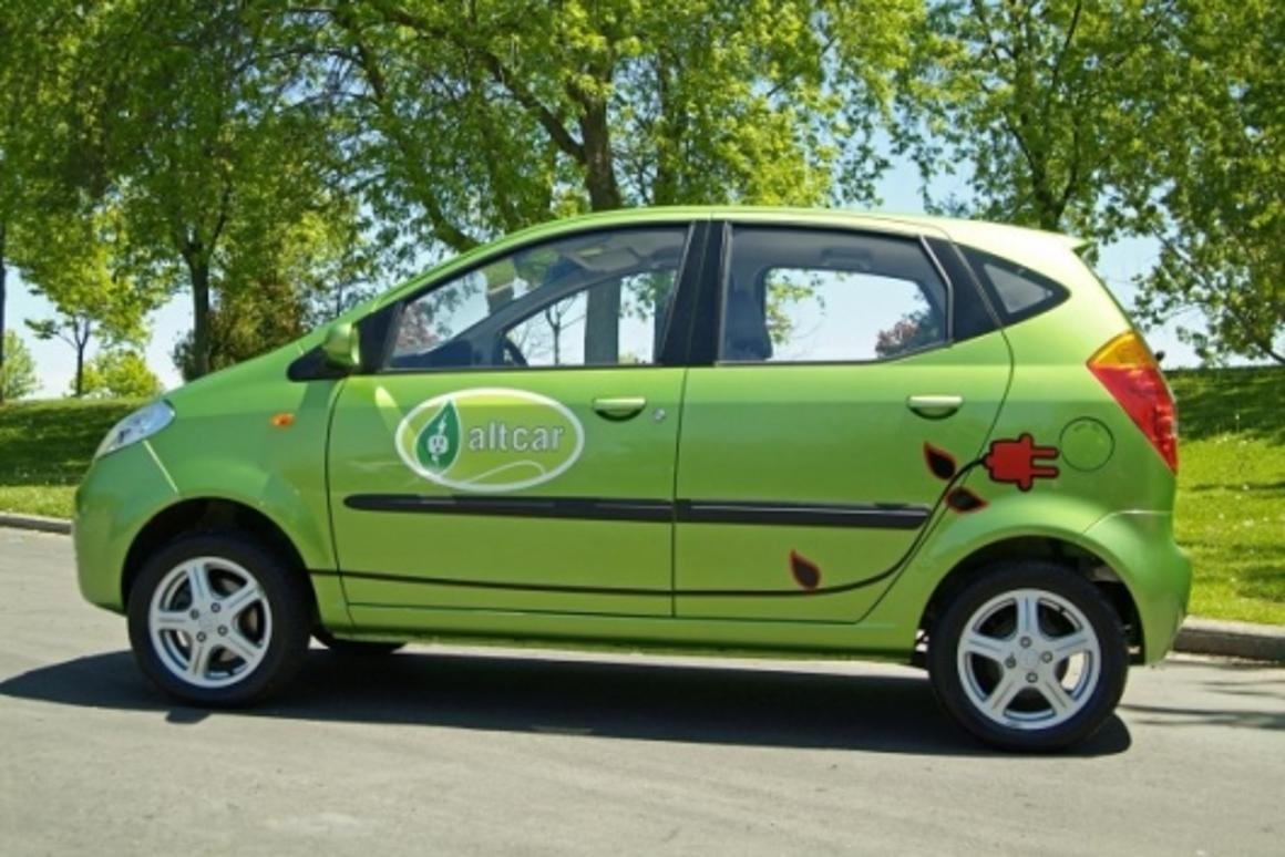 The Maya 300 electric car can travel up to 120 miles per charge and reach a top speed of 35mph