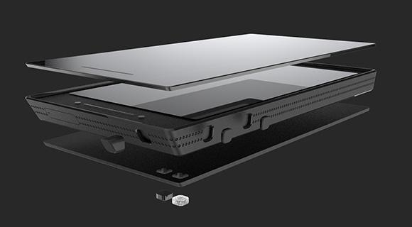 The developers plan to use a sapphire crystal display instead of glass