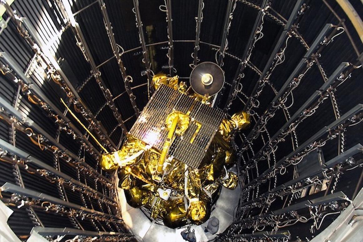 The Phobos-Grunt space probe undergoing tests (Photo: Roscosmos)
