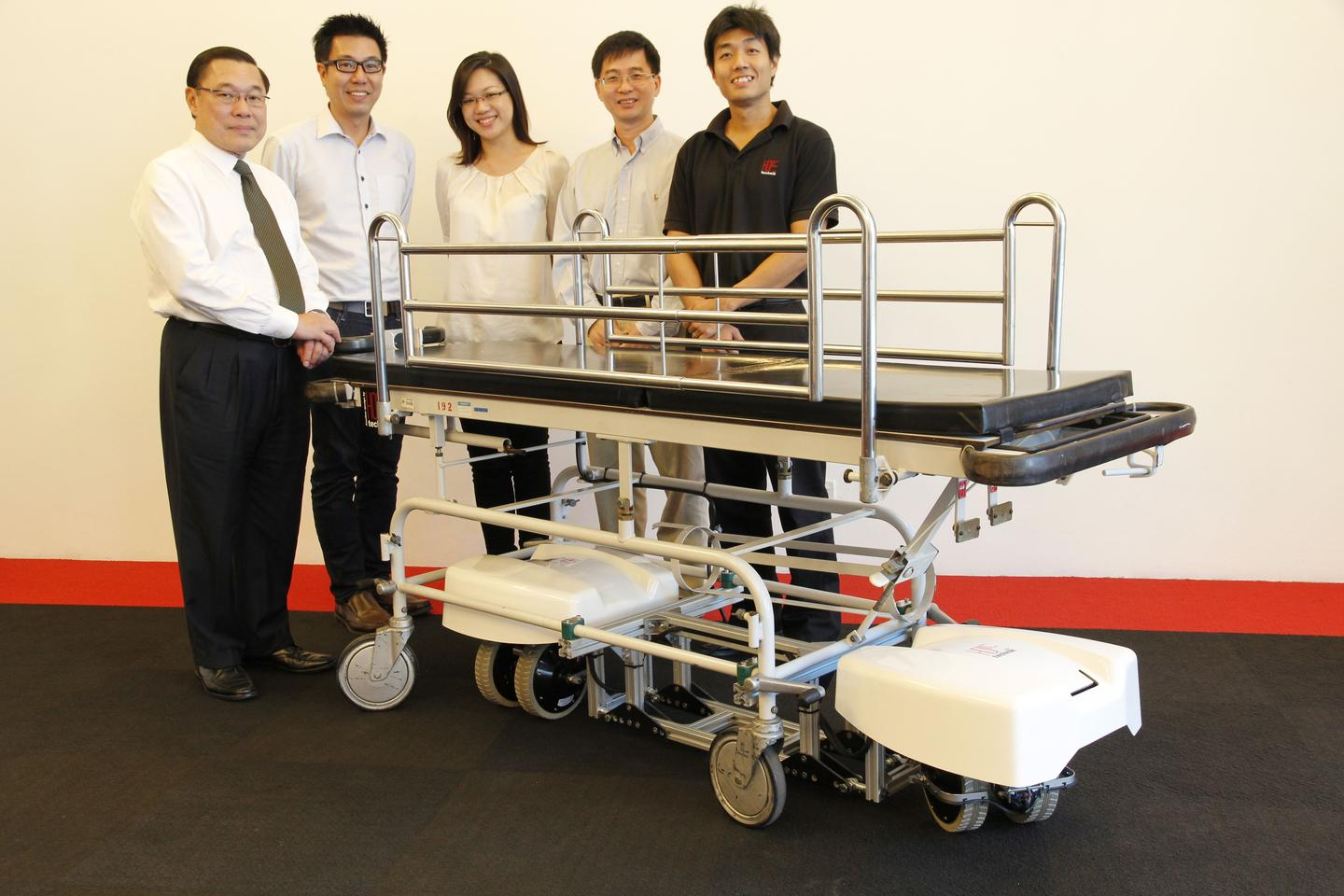 Members of the development team, with a SESTO-equipped bed