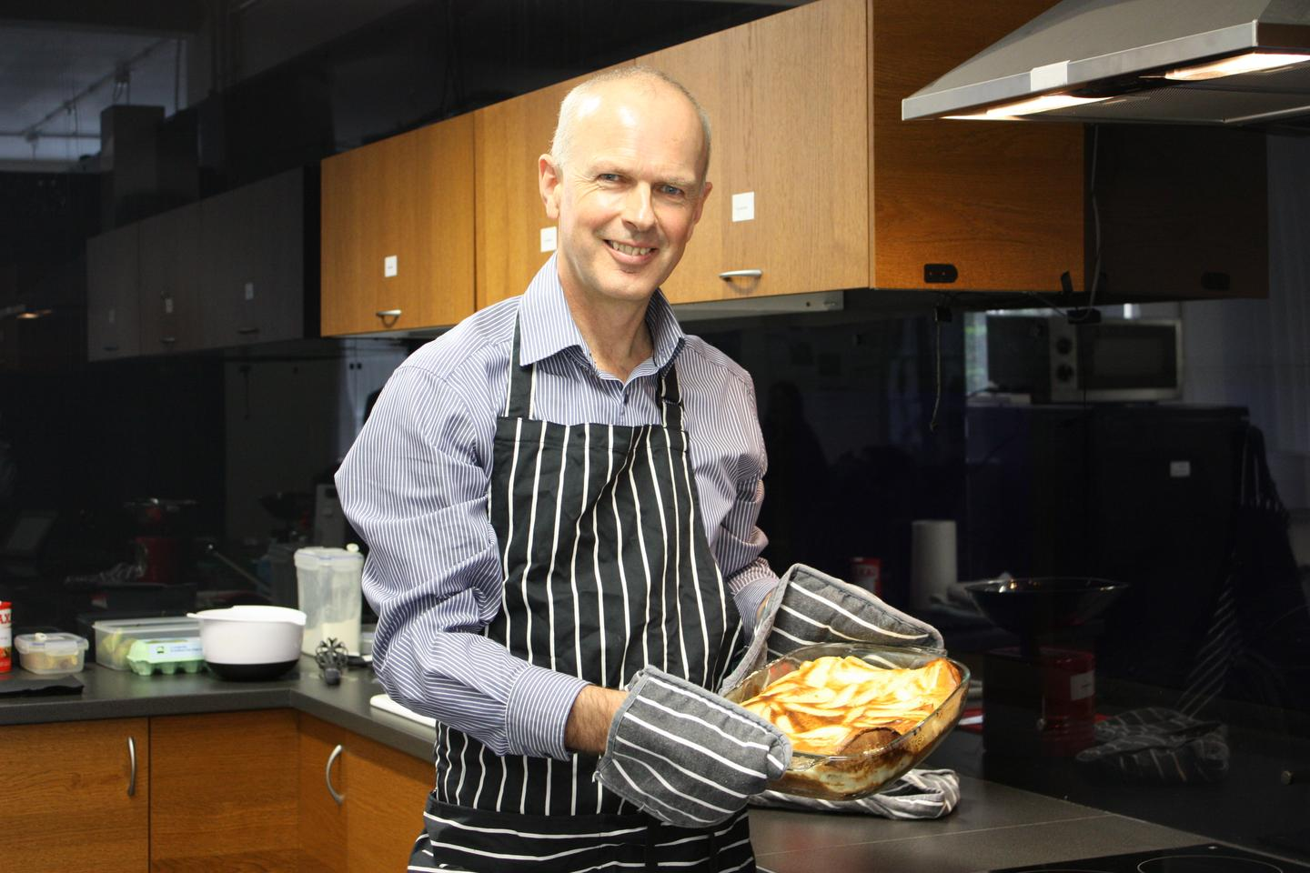 Newcastle's Professor Paul Seedhouse, one of the two leaders of the French Digital Kitchen project