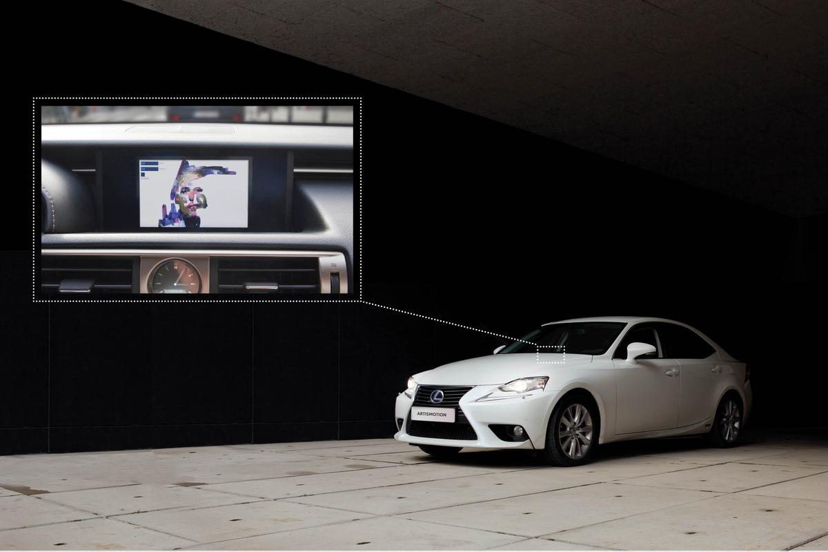 Art is Motion is installed in a Lexus IS 300h sedan