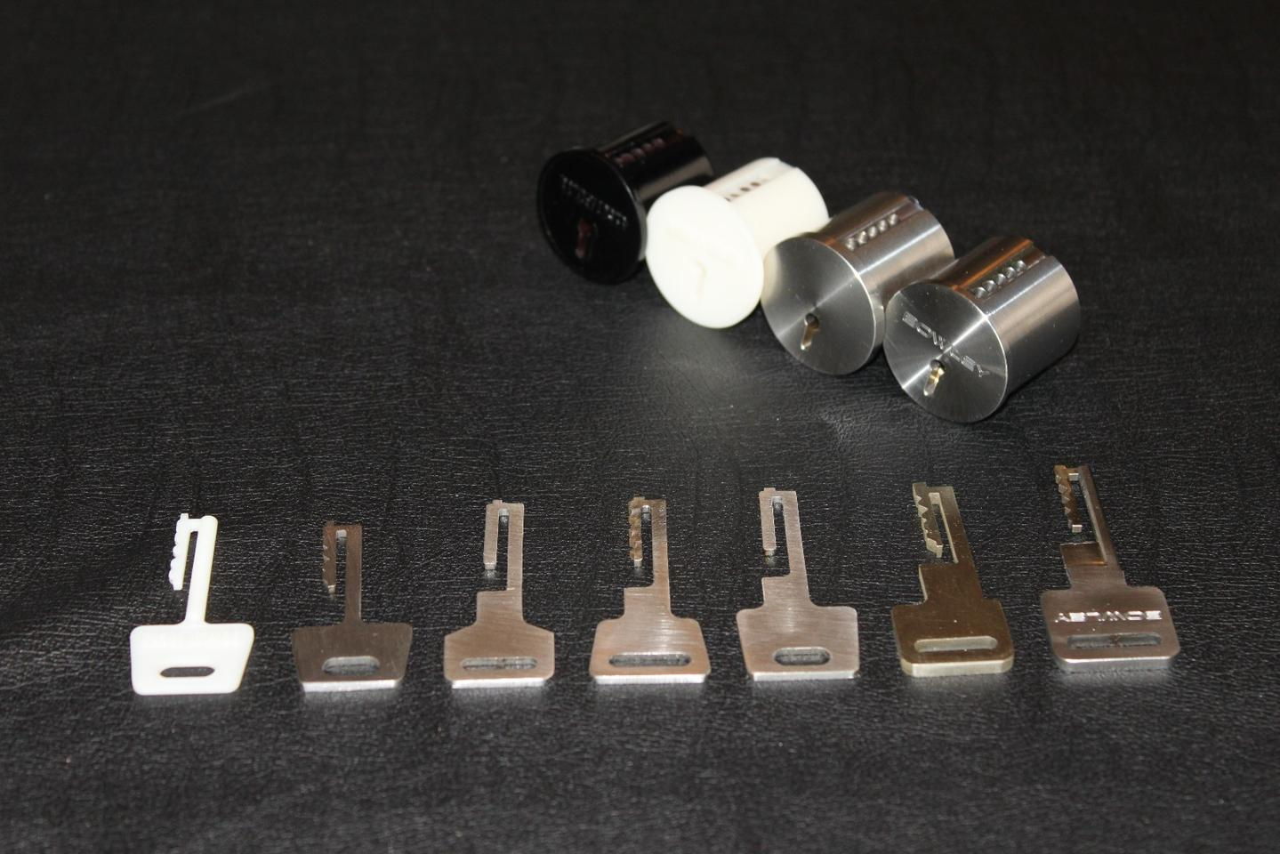 A collection of Bowley Lock prototypes
