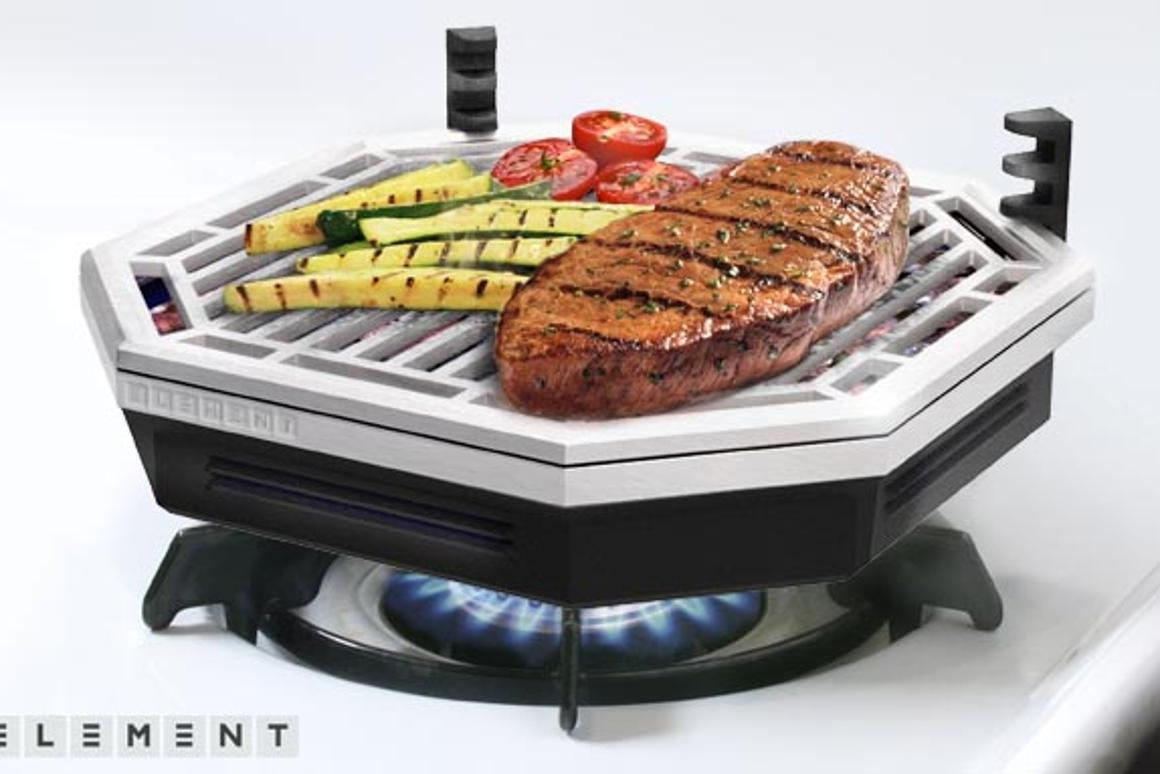 The Element works with both gas and electric ranges
