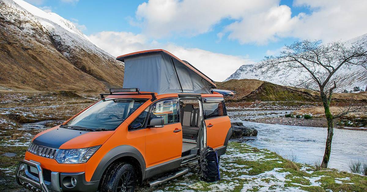 Mitsubishi D:5 Terrain 4x4 camper van nimbly explores rugged and remote spaces
