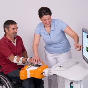 The Amadeo is the first device to focus specifically on hand rehabilitation and allows the patient to move each finger individually
