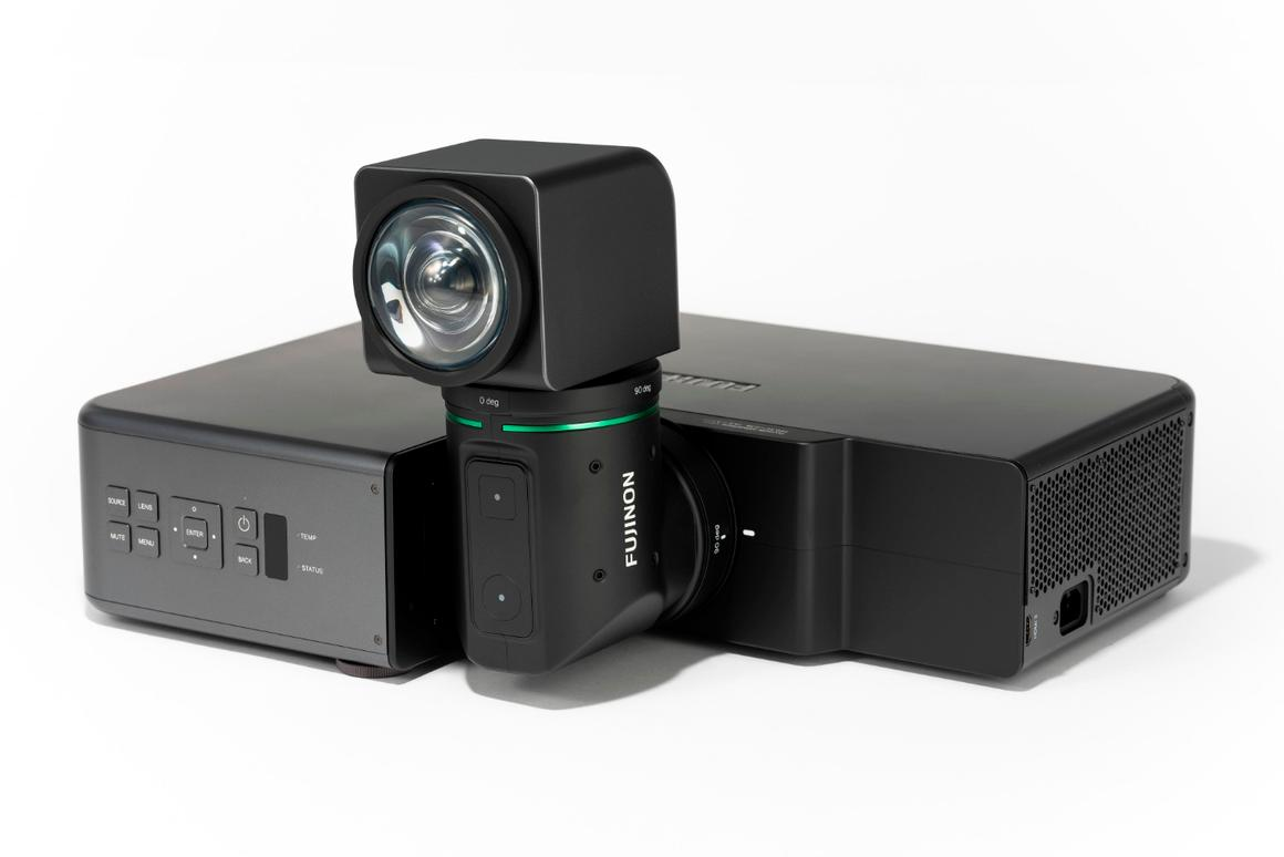 There's no official name, nor pricing details forFujifilm's rotating projector just yet