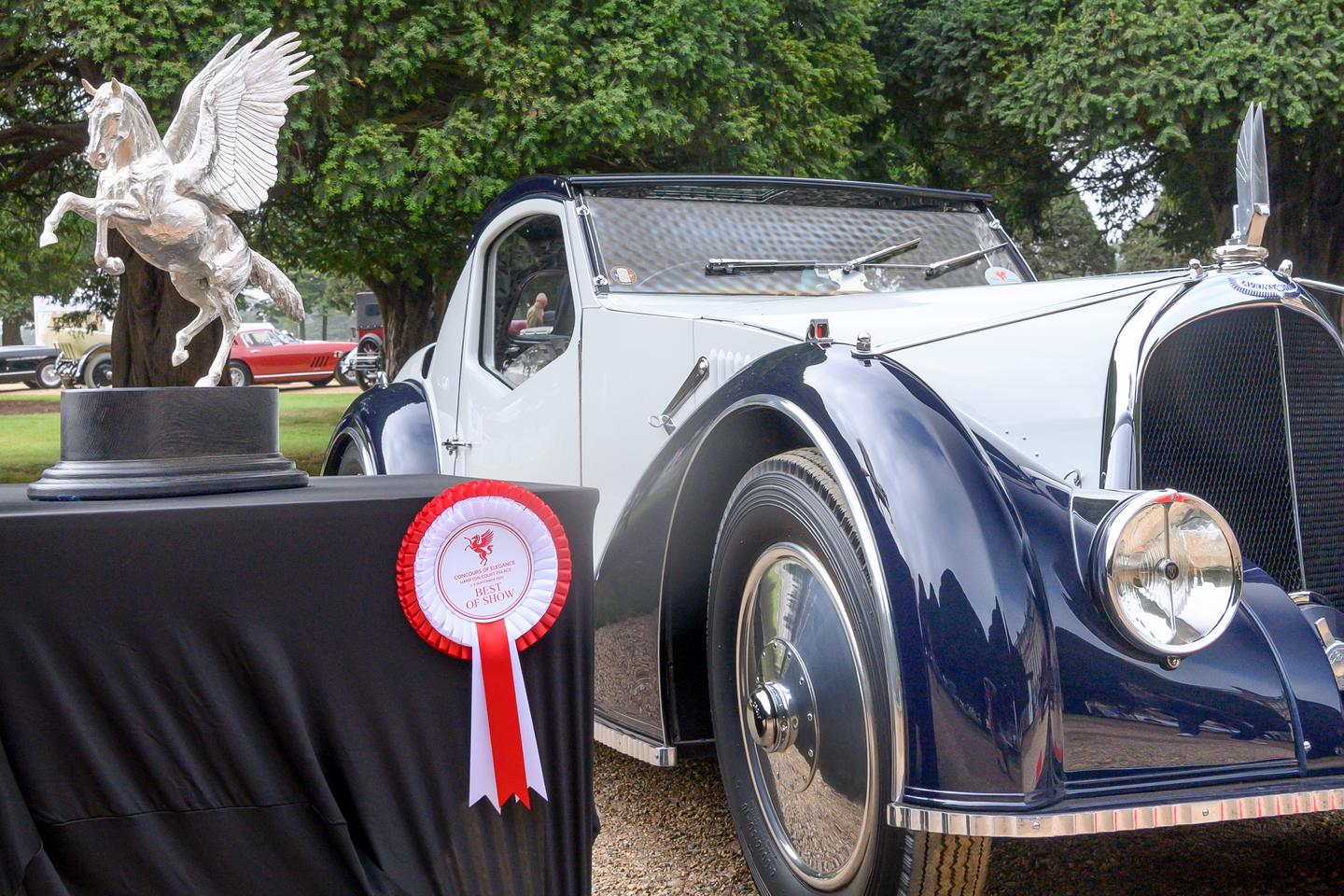 The winner of the Best of Show at the 2021 Concours of Elegance UK, the unique art deco Voisin C-27 Aérosport
