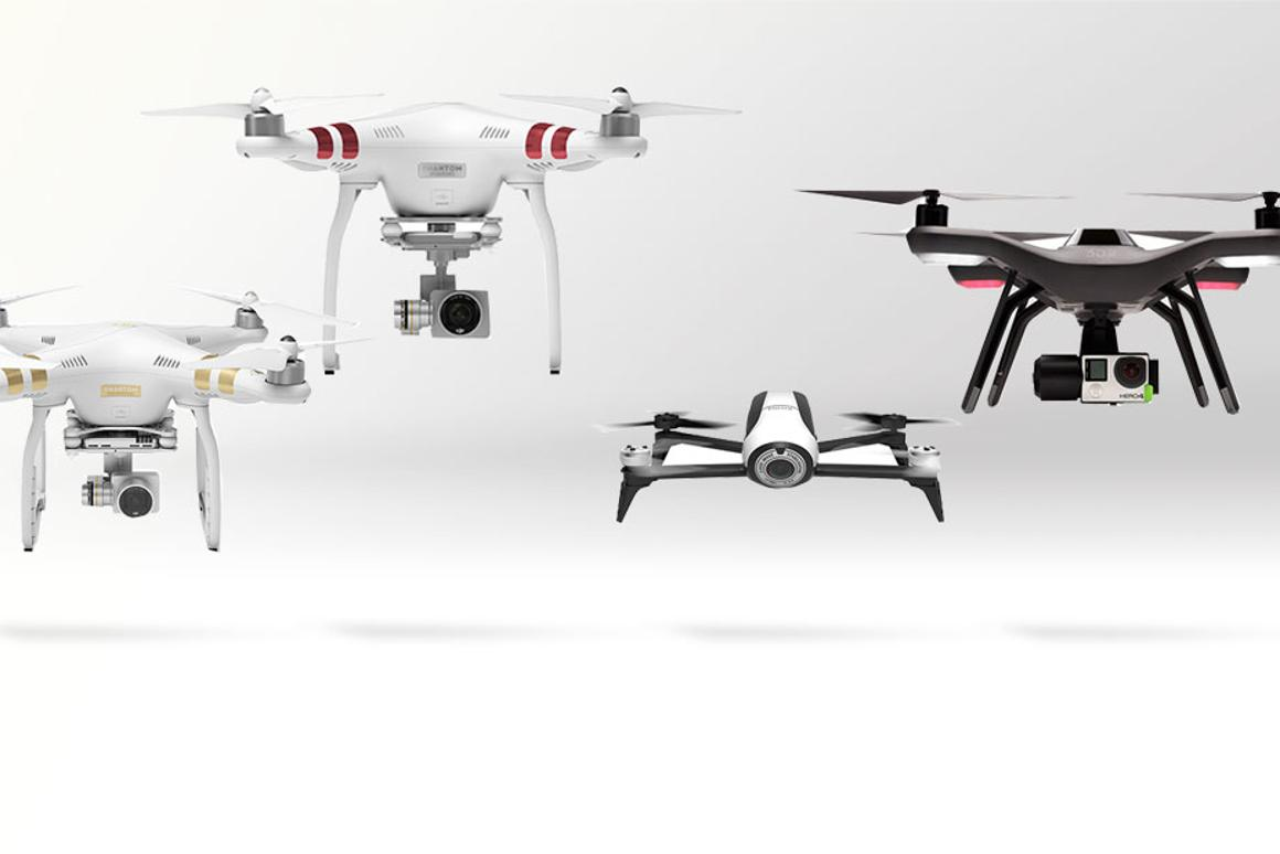Gizmag compares four of the top-flight consumer drones