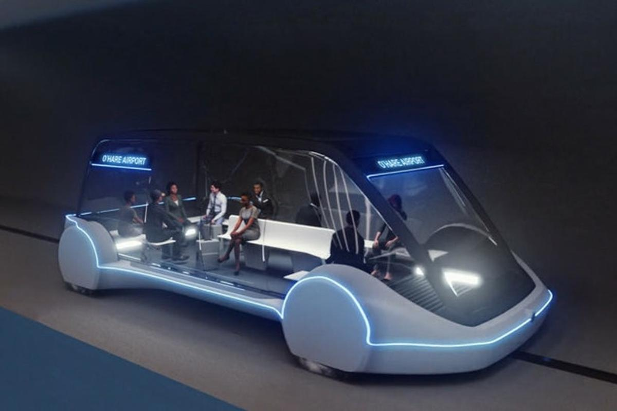 Plans for The Boring Company's loop beneath the Las Vegas Convention Center include autonomous electric vehicles traveling at high speeds