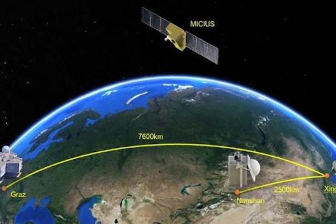 The Micius satellite has sent quantum-encrypted data between China and Austria, bringing the world closer to a global quantum internet