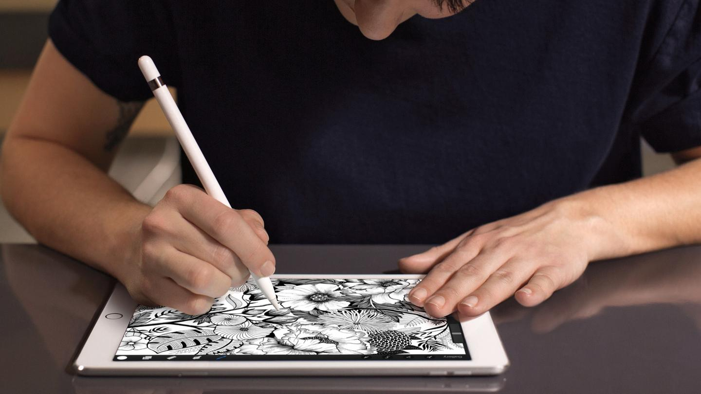 Drawing with the Apple Pencil on the 9.7-inch iPad Pro