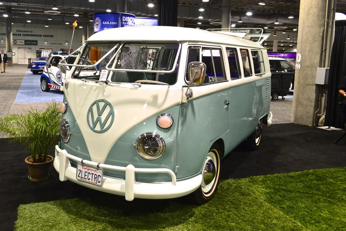The electric conversion couldn't have happened to a nicer VW Type 2