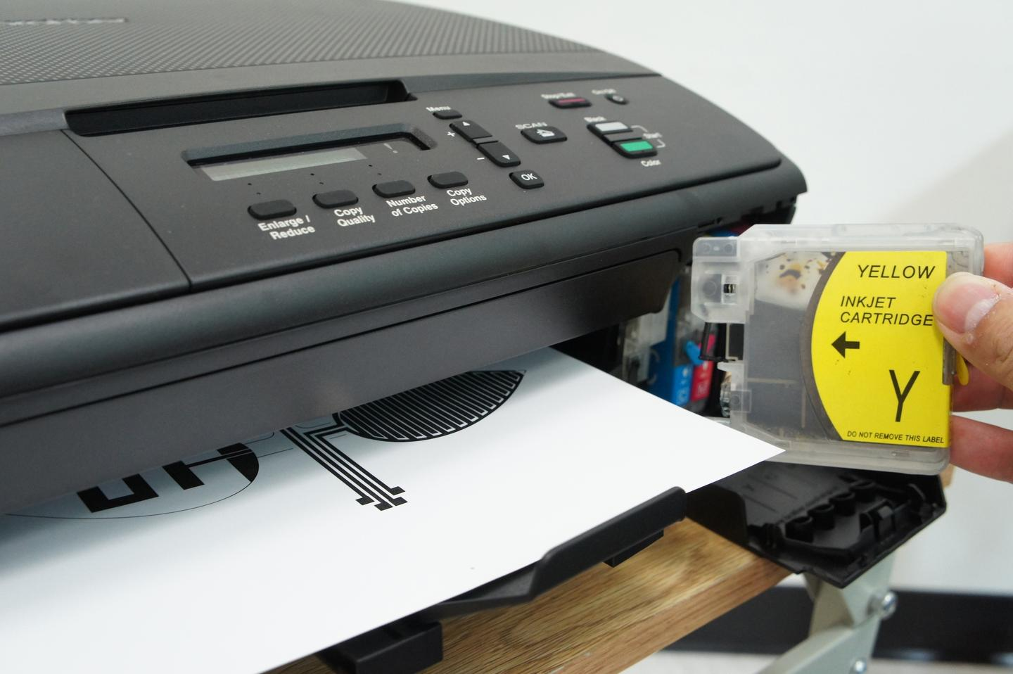 Silver nanoparticle ink is injected into ink cartridges for an off-the-shelf printer to create cheap, foldable circuitry