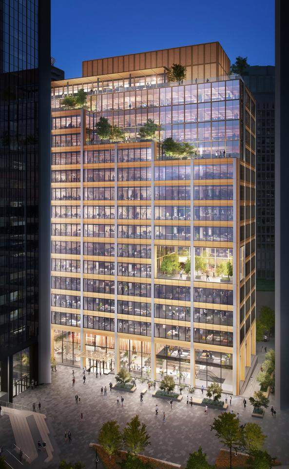 Burrard Exchange will rise to a height of 260 ft (almost 80 m) and consist of 16 floors