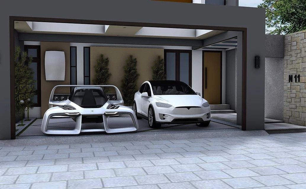 The Leo's hypercar styling and small footprint make it look very comfy in an urban garage