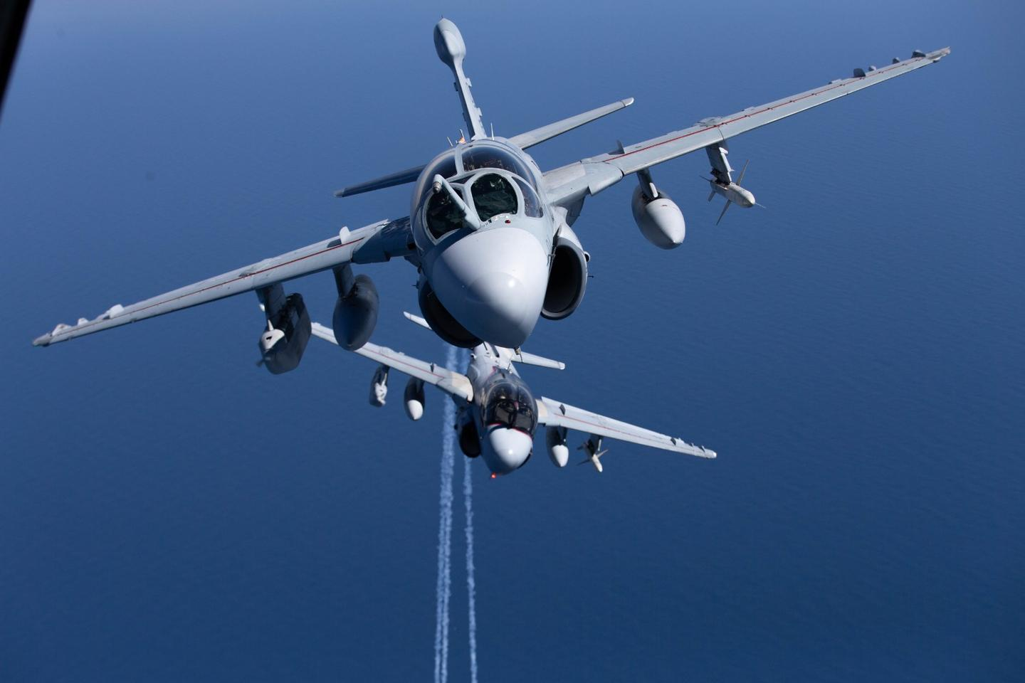 A pair of prowlers in flight prior to retirement