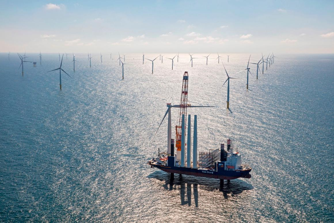 The Gemini wind farm, one of the biggest in terms of size and production, has opened in the North Sea, about 85 km (53 mi) off the Groningen coastline in the Netherlands