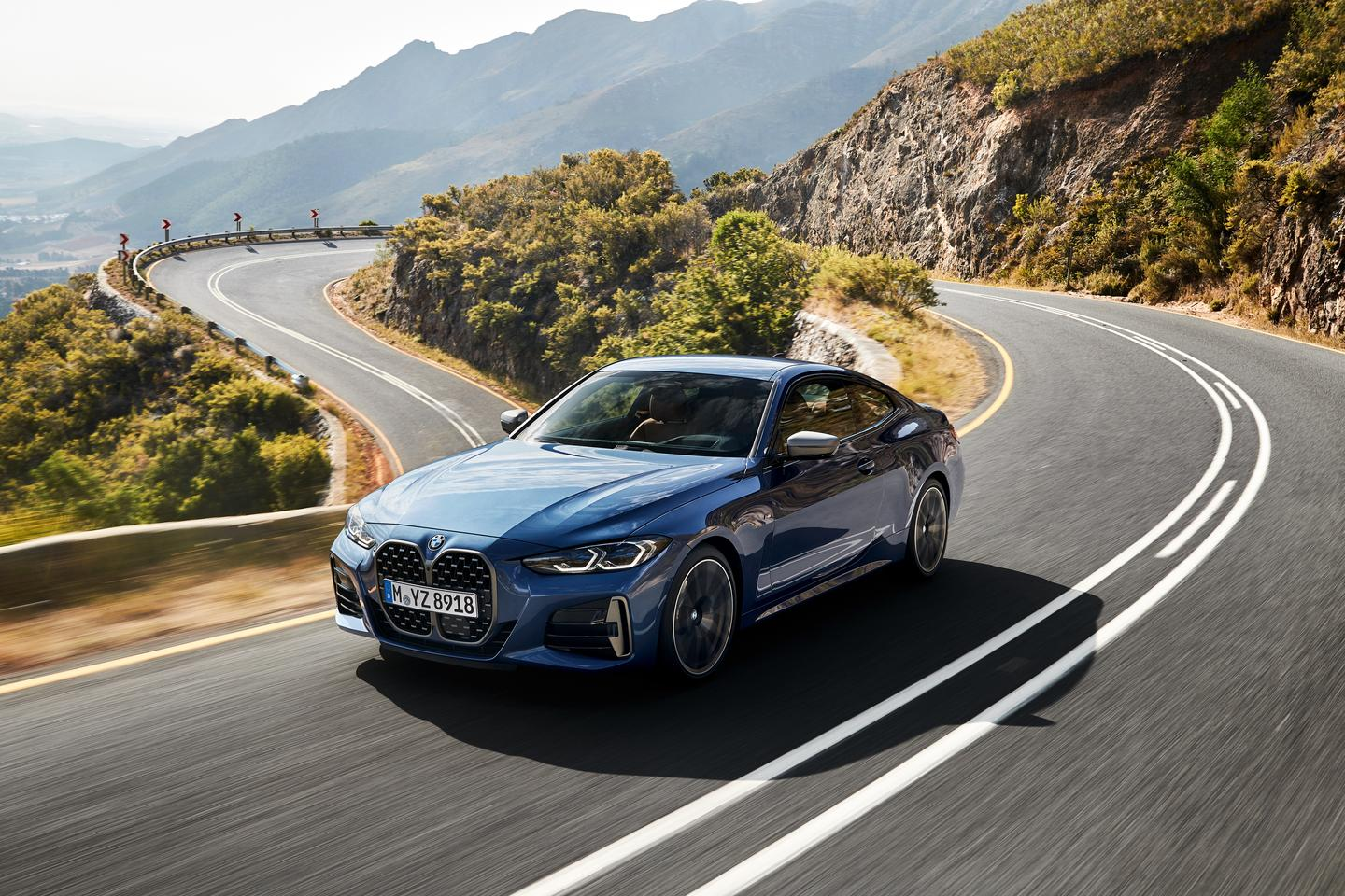 Stunning launch shots show the new BMW 4-series tackling a gorgeous set of coastal mountain twisties. We'd love to know where this road is!