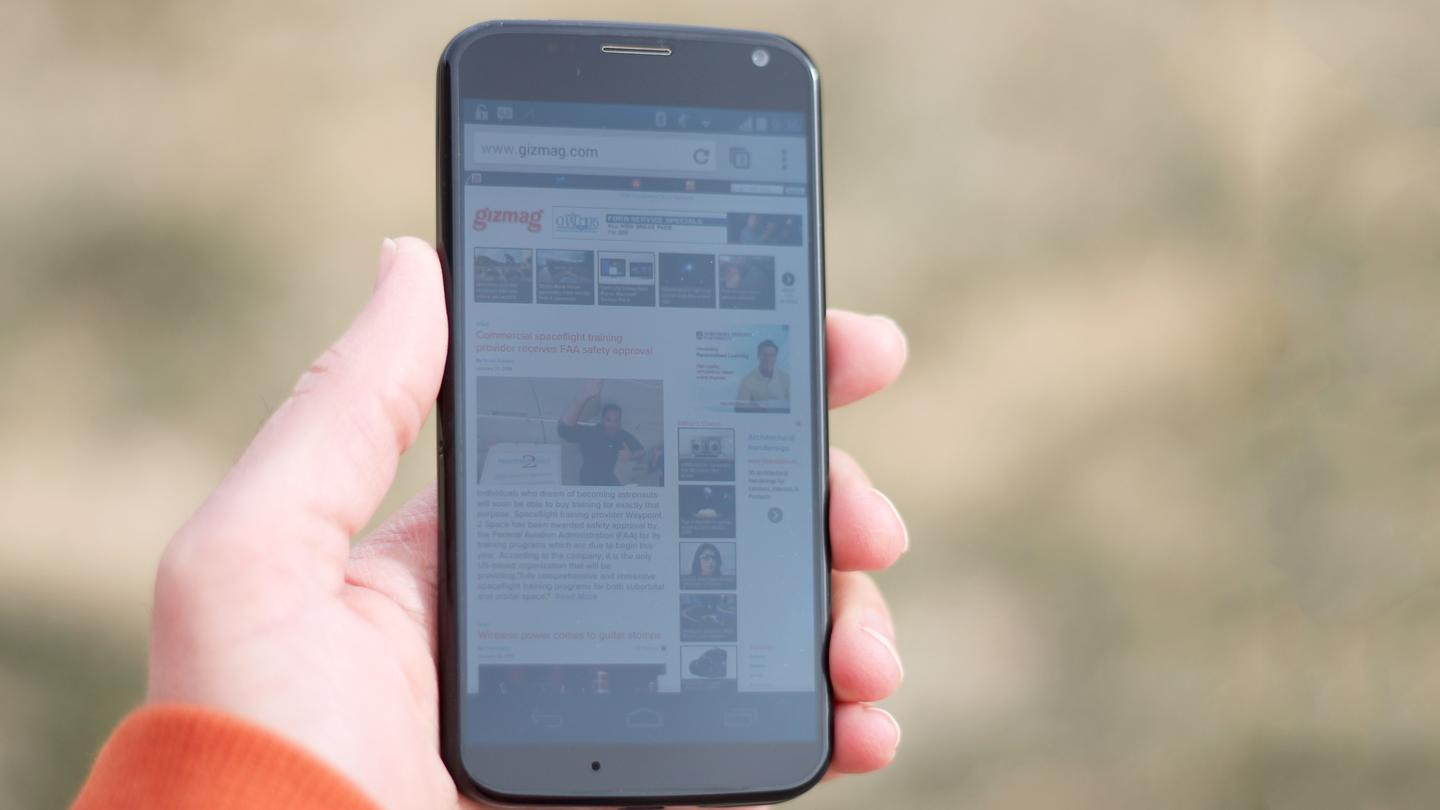 There are bigger and sharper displays, but the Moto X's 4.7-in 720p display delivers the goods nonetheless