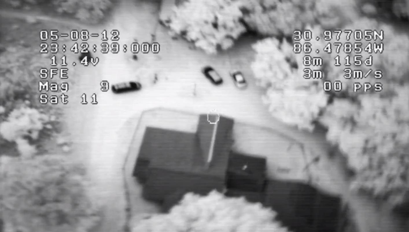 Infrared imaging equipment aboard a Maveric UAV (Video still: Condor Aerial)