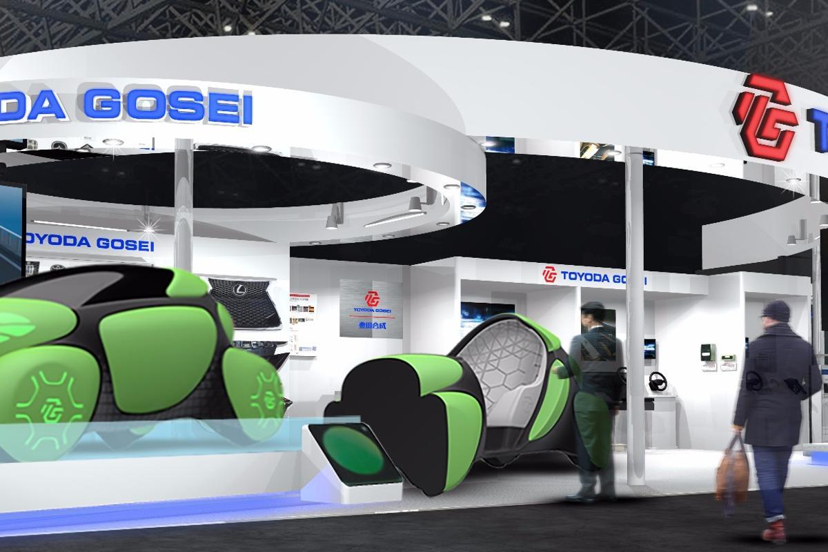Toyoda Gosei renders its Tokyo booth