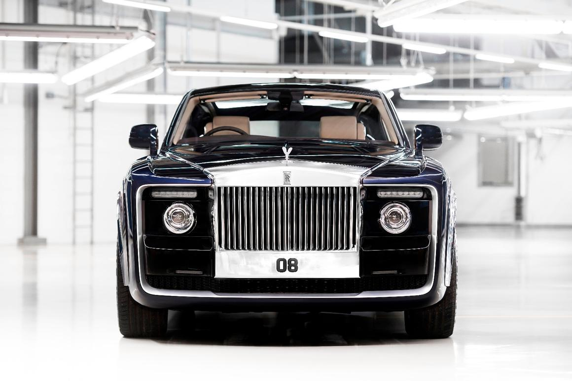 The unique nose of the Rolls-Royce Sweptail
