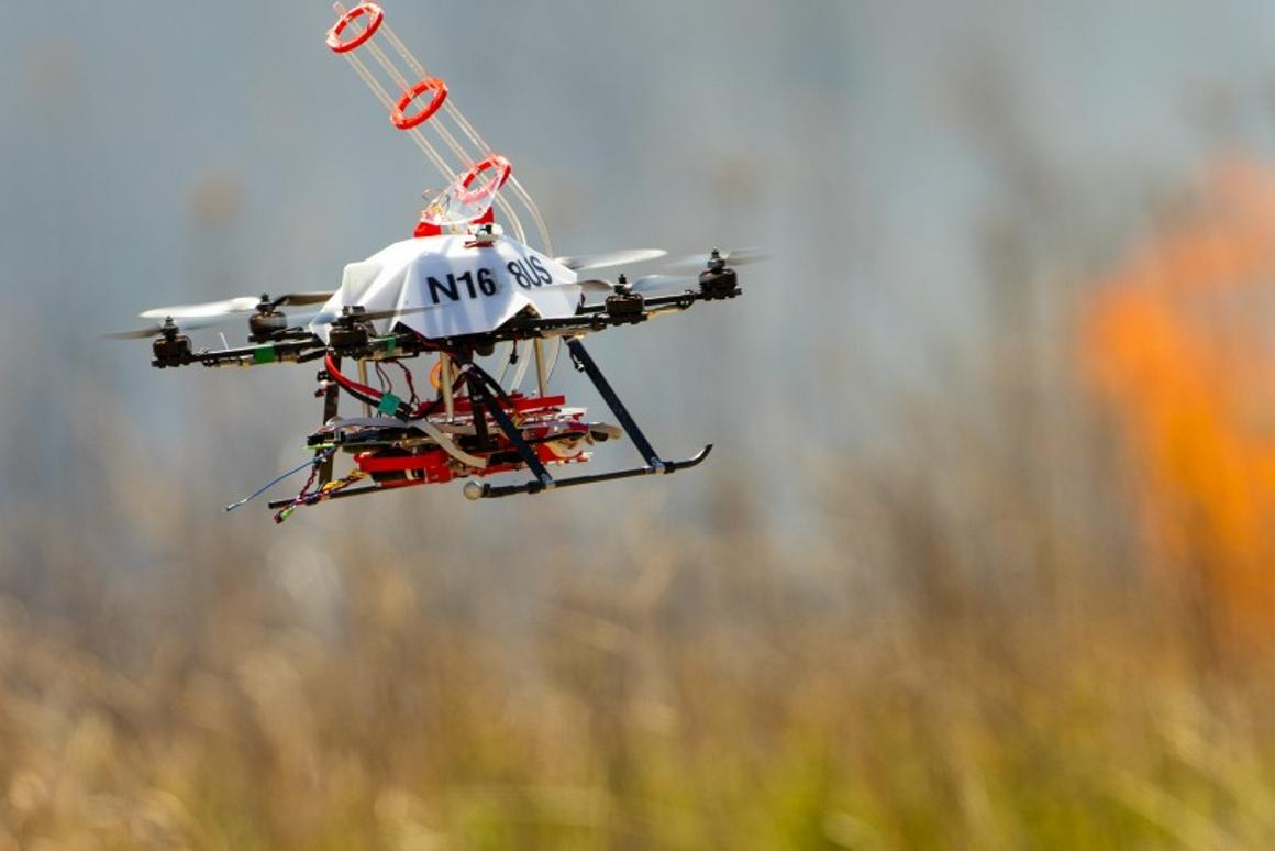 A fourth prototype of fire-starting drone has been put to the test at Homestead National Monument of America