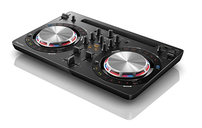 The Pioneer DDJ-WeGO3 is a tactile DJ controller that allows DJs to mix tracks directly from Spotify