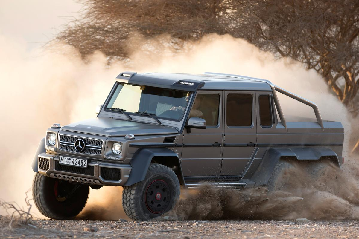 The G 63 6x6 gets dirty