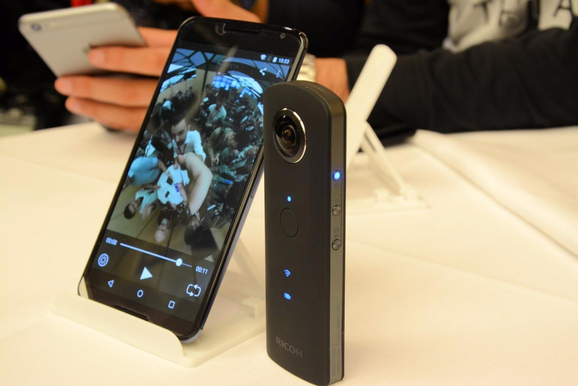 The Theta S launched alongside a new Theta app for Android/iOS