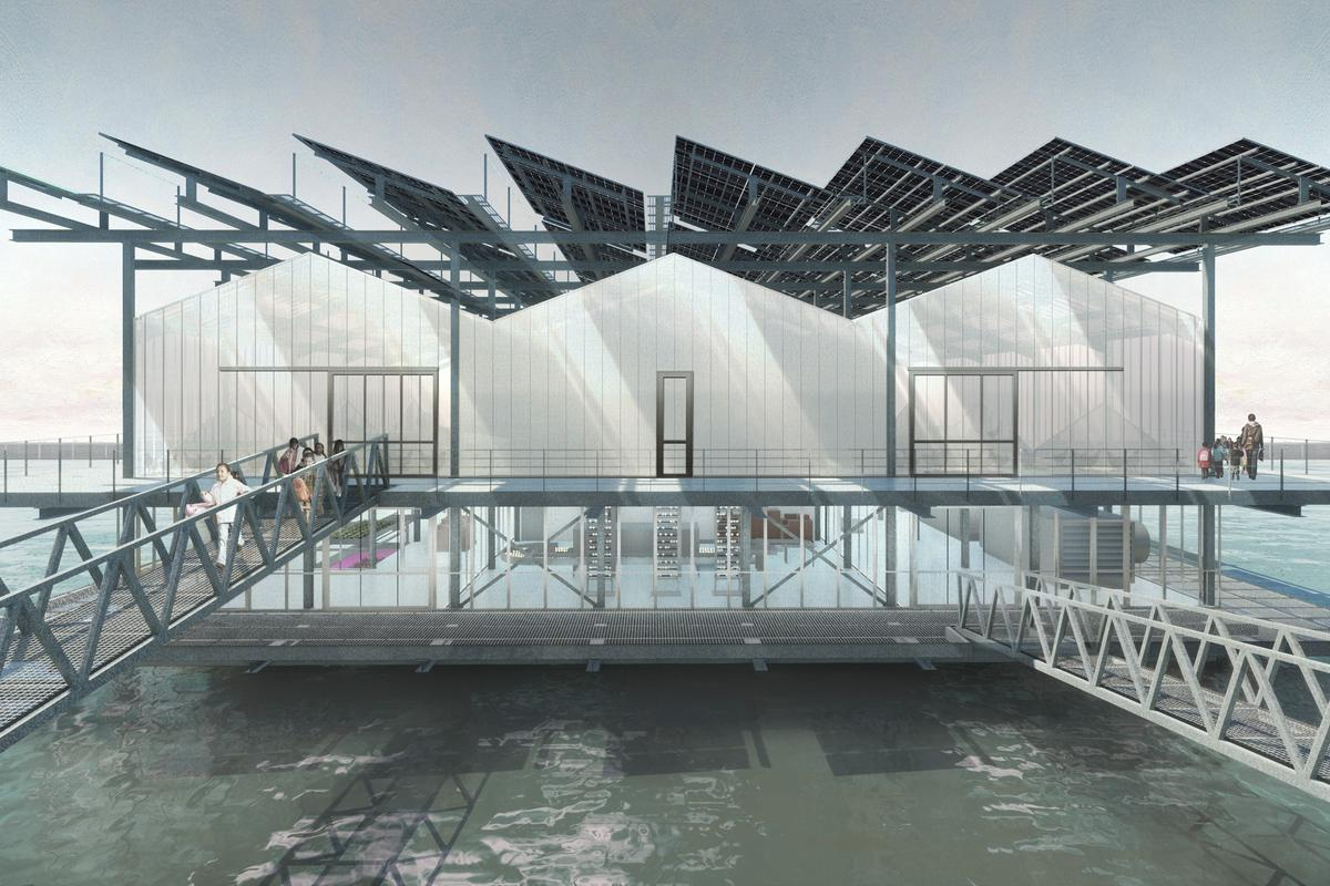 Floating Farm Poultry will measure 3,500 sq m (roughly 37,670 sq ft), spread over three floors