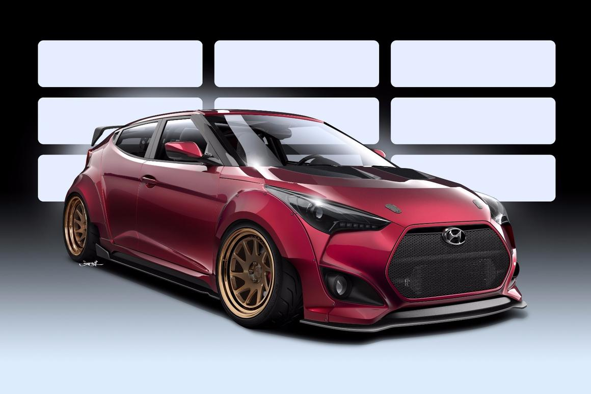 Hyundai partners with Gurnade for aggressive Veloster concept